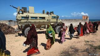 AU troops in Somalia