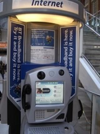 BT internet payphone