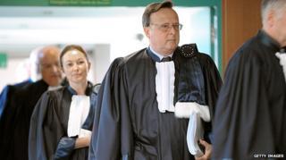 European Court of Human Rights judges enter court