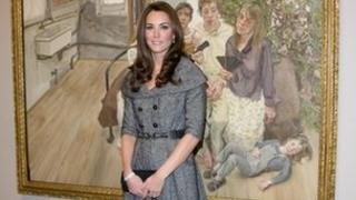 Duchess of Cambridge at National Portrait Gallery