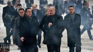 David Cameron with other leaders at the Nordic-Baltic summit