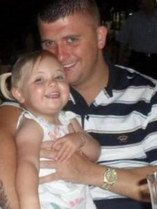 Scott Fletcher pictured with his daughter Lucie in 2011