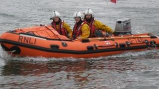 The Alan and Amy rescue boat