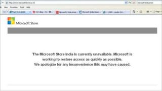Screen grab of Microsoft India online store - 13 February 2012