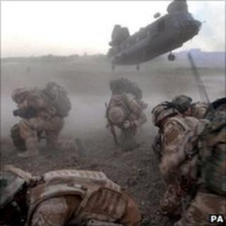 RAF Chinook in Afghanistan. File pic