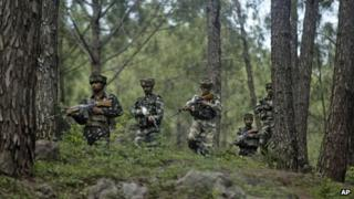 File picture of Indian army soldiers