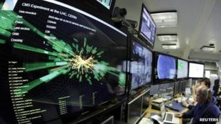Control room at Cern