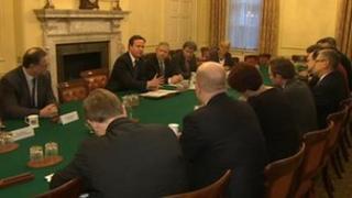 David Cameron hosting car insurance meeting