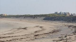 Sand dunes at Grandes Rocques
