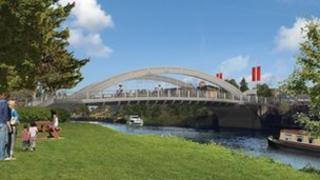 Artist's impression of remodelled Abbey Bridge
