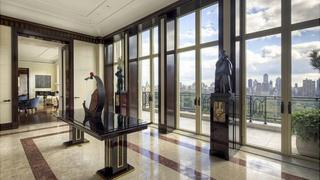 The inside of the penthouse apartment at 15 Central Park West