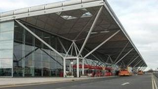 The entrance to Stansted Airport