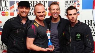 Coldplay at the Brit Awards