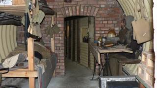Underground bunker, Parham Airfield Museum