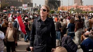 Marie Colvin in Cairo (file photo)