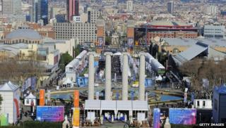A view of Mobile World Congress in Barcelona, 2011