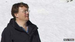 Prince Johan Friso of the Netherlands posing during a photocall in the Austrian alpine ski resort of Lech am Arlberg, February 2011