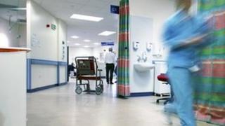 Doctor in ward