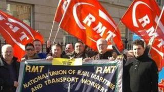RMT picket line outside Paddington Station