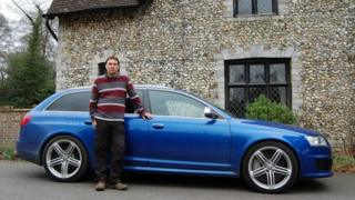 Alex Wotke with his Audi RS6