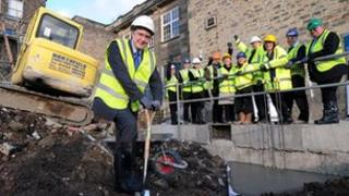 Councillor Andrew Lewer at the site of a new records office in Matlock