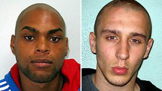 John Kafunda, 22, of Ilford, and Reece Donovan, 24, of Romford