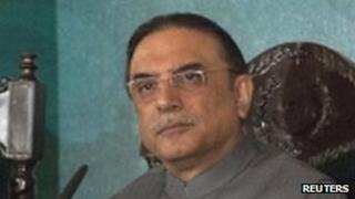 Pakistani President Asif Ali Zardari. File photo