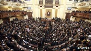 The opening session of the Egyptian parliament [23 January 2012]