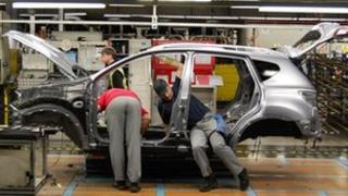 Car production at Nissan in Sunderland