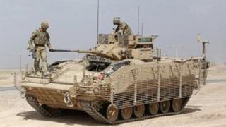 British Warrior armoured vehicle