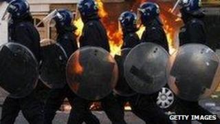 Police dealing with riots in August