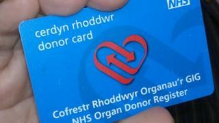 Bilingual organ donor card