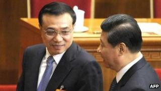 Li Keqiang (left) and Xi Jinping