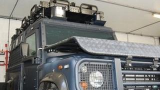 Guernsey Police armoured Land Rover