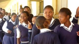 Children at South African school