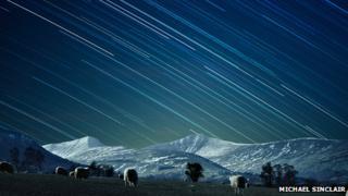 The night sky above Pen y Fan
