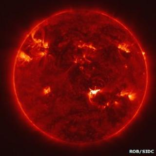 Sun image from Proba-2 (ROB/SIDC)