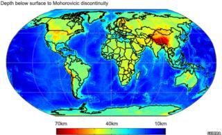 Moho map