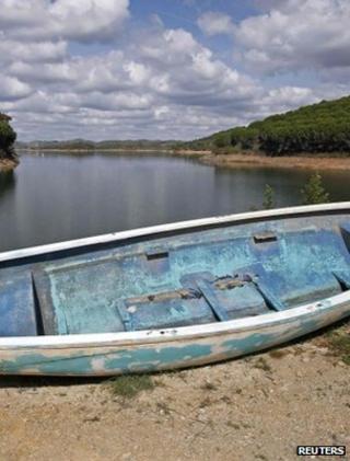 Depleted reservoir, Portugal (Image: Reuters)