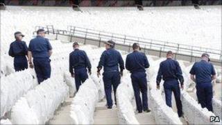Security testing at Olympic Stadium