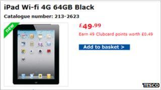 Tesco iPad advert