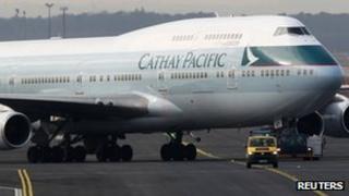 A Cathay Pacific aircraft