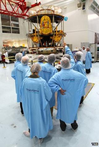 Meteosat-10 in the cleanroom (TAS)