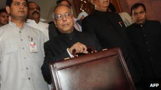 Indian Finance Minister Pranab Mukherjee - 16 March 2012
