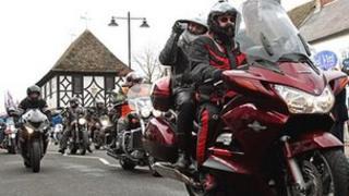 Bikers make third and final Ride of Respect through Wootton Bassett