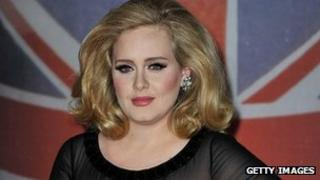 Adele at the Brit Awards