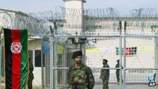 Guards outside Pul-e-Charkhi jail in Kabul in 2007