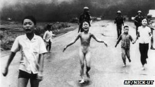 Kim Phuc, photographed as a nine year old running from a napalm attack in Vietnam