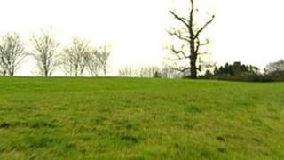 The grassed hillock, known as Ten Metre Wood, where the attack took place