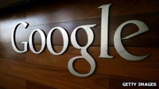 Google logo on a varnished wall
